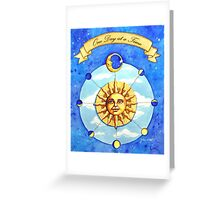 One Day at a Time - watercolor painting Greeting Card