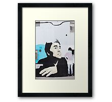 Diego Maradona Graffiti in Buenos Aires, Argentina Framed Print