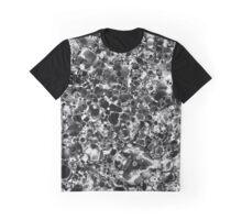 Black and White Metallic Astract. Graphic T-Shirt