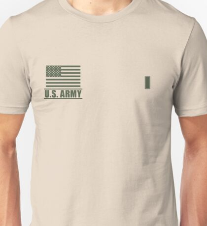 First Lieutenant Infantry US Army Rank Desert by Mision Militar ™ Unisex T-Shirt