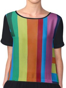 Geometric patterns in multi-colors Chiffon Top