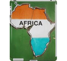 Old African shape sticker on green crumbling wall  iPad Case/Skin