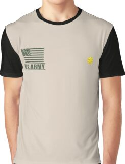 Major Infantry US Army Rank Desert by Mision Militar ™ Graphic T-Shirt