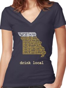 Drink Local - Missouri Beer Shirt Women's Fitted V-Neck T-Shirt