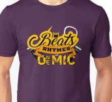 Beats, Rhymes and One Mic Unisex T-Shirt