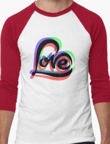 Love  Men's Baseball ¾ T-Shirt