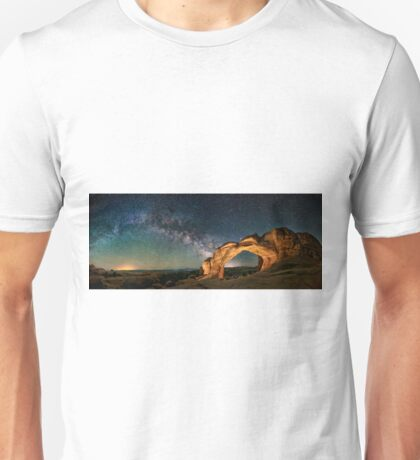 Broken Arch With The Rising Milky Way Unisex T-Shirt