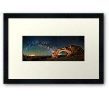Broken Arch With The Rising Milky Way Framed Print