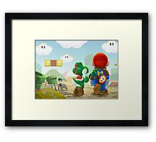 Super Mario in Fallout 4 Framed Print