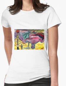 melting illusions painting Womens Fitted T-Shirt