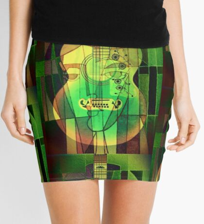 5161 Guitar with Face Mini Skirt