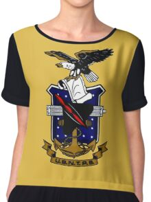 Test Pilot School (USNTPS) Crest Chiffon Top