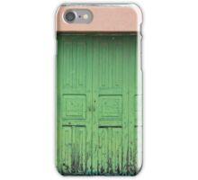 Green Wood Double Doors iPhone Case/Skin