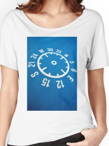 Floor compass with coordinates on the floor Women's Relaxed Fit T-Shirt
