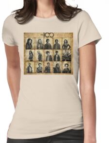 The 100 poster 2 Womens Fitted T-Shirt