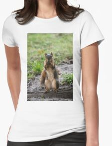 Please...one more peanut! Womens Fitted T-Shirt