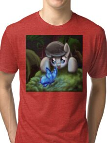 Octavia and the Blue Butterfly Tri-blend T-Shirt