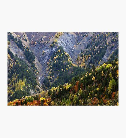 Autumn along the Alpine road Photographic Print