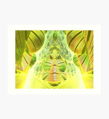 Neon Green Ocean Liner  Art Print