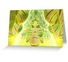 Neon Green Ocean Liner  Greeting Card