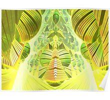 Neon Green Ocean Liner  Poster