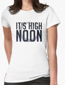 It's High Noon (Black/Blue) Womens Fitted T-Shirt