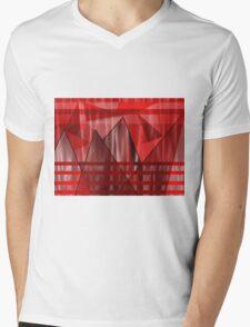 Flaming Elevation Mens V-Neck T-Shirt