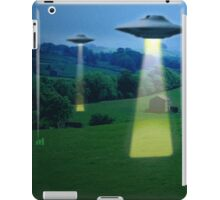 UFO in a meadow iPad Case/Skin