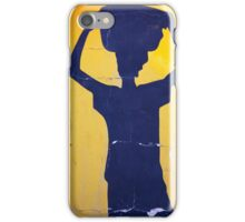 Blue shape of an African woman iPhone Case/Skin