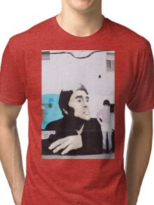 Diego Maradona Graffiti in Buenos Aires, Argentina Tri-blend T-Shirt