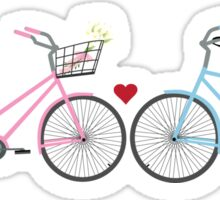 Two Bicycles Love Wedding Sticker