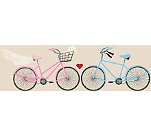 Two Bicycles Love Wedding Photographic Print