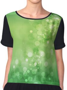 Green Ombre Bokeh Chiffon Top