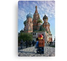 Lego Backpacker in Russia Canvas Print