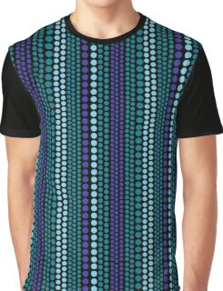 Cool Rain Dots Pattern Graphic T-Shirt