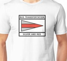 BusSilverRed Unisex T-Shirt
