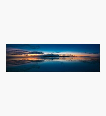 Awesome sunset and still water on Gili Air Island, Indonesia Photographic Print