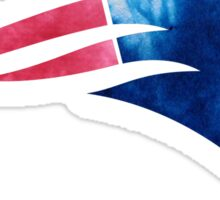 New England Patriots Logo Tie Dye Sticker