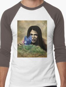 Octavia and the Butterfly (full color) Men's Baseball ¾ T-Shirt