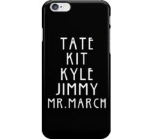 Evan Peters AHS Roles - White iPhone Case/Skin