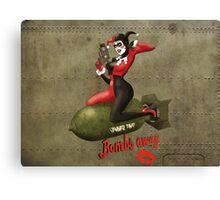 Harley War Pinup Canvas Print
