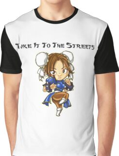 Street Fighter Chun-Li Take It To The Streets  Graphic T-Shirt