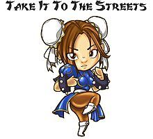 Street Fighter Chun-Li Take It To The Streets  Photographic Print