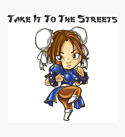 Street Fighter Chun-Li Take It To The Streets  Photographic Print