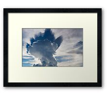 Abstract cloudscape in the sky of Rurrenabaque, Bolivia Framed Print