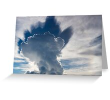 Abstract cloudscape in the sky of Rurrenabaque, Bolivia Greeting Card
