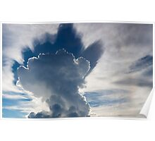 Abstract cloudscape in the sky of Rurrenabaque, Bolivia Poster