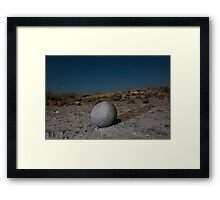 Sandstone formations in Ischigualasto at night, Argentina Framed Print