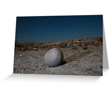 Sandstone formations in Ischigualasto at night, Argentina Greeting Card