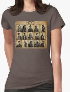 The 100 poster 1 Womens Fitted T-Shirt